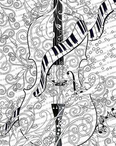 Volwassen kleurplaten pagina afdrukbare volwassen door JuleezGallery