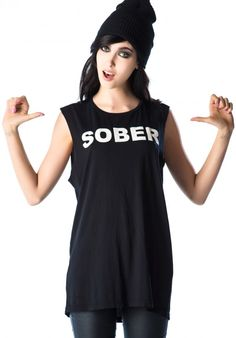 Lip Service Sober So Bored Sleeveless Tee #sobersobored