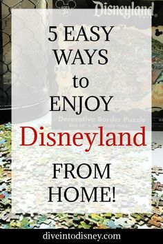 Are you missing your regular Disneyland vacations? Check out these 5 Easy Ways to Enjoy Disneyland from Home and keep the magic alive!