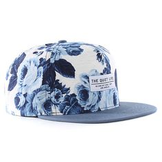 《I don't like caps usually, but this one is cool》The Quiet Life Floral Snapback Cap - White