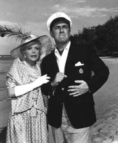"""Gilligan's Island - Thurston Howell III and Eunice """"Lovey"""" Wentworth Howell (Jim Backus and Natalie Schafer).  Best Lovey quote:  """"Anyone who says money can't buy happiness doesn't know the right places to shop."""""""
