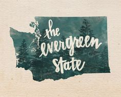 Washington state print by penmeetpaper on Etsy https://www.etsy.com/listing/185036013/washington-state-print