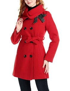 XL red really warm pea coat