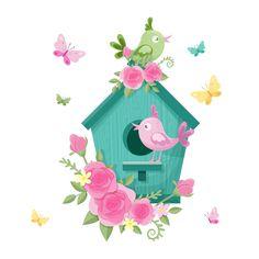 Logo Abstrait, Illustration, Outdoor Decor, Birdhouse, Home Decor, Disney Cars, Pretty Birds, Valentine's Day Diy, Fabric Painting