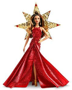 Barbie 2017 Holiday Teresa Doll Brunette * Click image to review more details-affiliate link. #BarbieDollsCollectibles