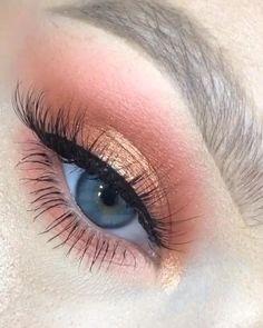 Suscribete en www.hannstore.com Makeup Eye Looks, Eye Makeup Steps, Eye Makeup Art, Natural Eye Makeup, Eyeshadow Looks, Easy Eye Makeup, Daytime Eye Makeup, Doll Eye Makeup, Almond Eye Makeup