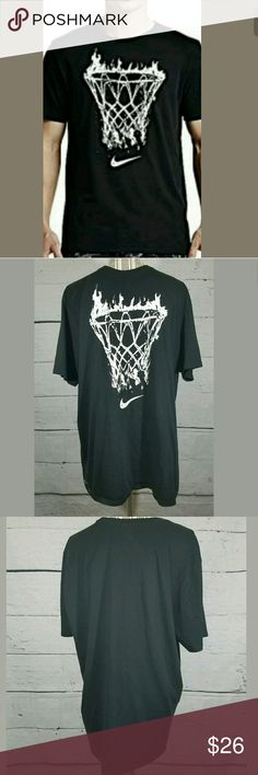 Nike Dri-Fit Flame Basketball Short Sleeve Tshirt Nike Dri-Fit Flame Basketball Short Sleeve Tshirt Black White XL  Excellent used condition. No holes or stains.   24.5 inches pit to pit  30 inches long.   AB Nike Shirts Tees - Short Sleeve