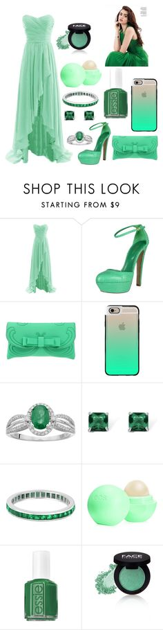 """Untitled #89"" by emilychen-778 on Polyvore featuring Sergio Rossi, La Fille Des Fleurs, Casetify, Palm Beach Jewelry, Allurez, Eos, Essie and FACE Stockholm"