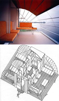 mobile home axon drawing - one very functional room into three. Here's the designer's concept on his web site http://www.bohtlingk.nl/index.php/en/projects/mobiles/53.html