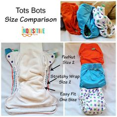 Tots Bots Size Comparison from The Inquisitive Mom.