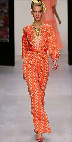Orange Issa Dress with Waist Bow