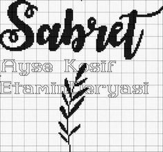 Cross Stitch Alphabet Patterns, Islamic Decor, Bargello, Punch Needle, Diy And Crafts, Letters, Embroidery, Crossstitch, Instagram