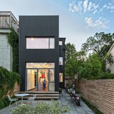 Narrow Dwelling in Toronto Converted Into Bright Family Refuge: The Contrast House