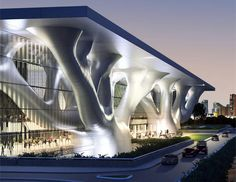 Qatar Convention Center, by Yamasaki Architects.  My favorite building here... and there are many super cool structures!