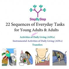 StepByStep - 22 Sequences for Young Adults & Adults: INCREDIBLE visuals for your LIFE SKILLS students!