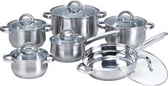 Heim Concepts HC12PCSET Stainless Steel Cookware Set => You will love this! More info here : Cookware Sets