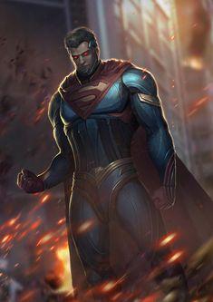 Evil Superman, Superman Cosplay, Superman Man Of Steel, Batman Vs Superman, Superman Family, Injustice 2 Superman, Black Superman, Superman Stuff, Arte Dc Comics