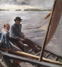 Albert Edelfelt / At The Sea 1882 / oil painting Finland, Oil, Painting, Painting Art, Paintings, Painted Canvas, Drawings
