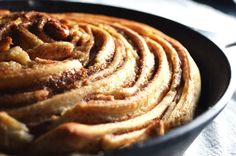 Giant Skillet Cinnamon Roll - to die for! // Love Laugh Cook