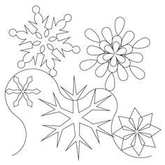 For Frozen inspired quilt Shop | Category: Christmas / Winter | Product: Snowflake E2E 2013 Simple