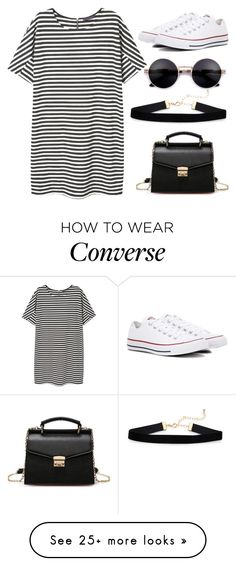 """Untitled #215"" by nikki5673 on Polyvore featuring MANGO and Converse"