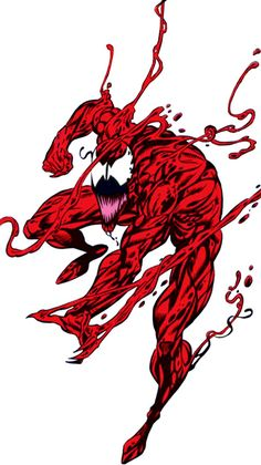 Carnage - Marvel Comics - Spider-Man enemy. Another example of why detouring pictures of Carnage is a pain in the keister. :-)