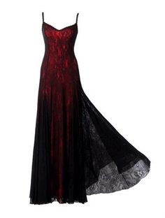 Victorian Style Michal Negrin Red and Black Dress with Spaghetti Strap Laces | eBay