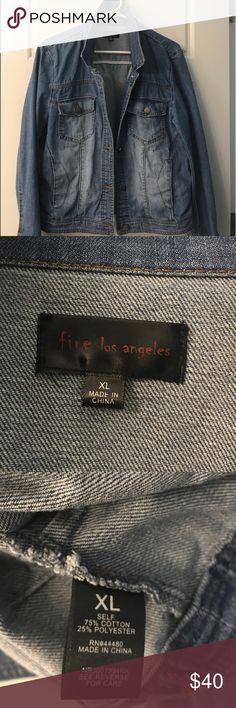 Denim Jacket Denim Jacket. Bought at Nordstrom. Worn 5 times. Super cute!! No Trades. Fire Los Angeles Jackets & Coats Jean Jackets