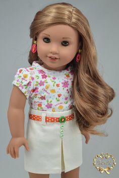 American girl doll clothes OOAK Tee blouse by PurpleRoseNY2nd