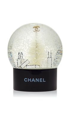 Chanel Holiday Snow Globe by What Goes Around Comes Around for Preorder on Moda Operandi