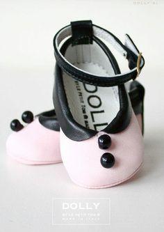 Dolly Baby Shose: 粉紅露西瑪麗珍娃娃鞋