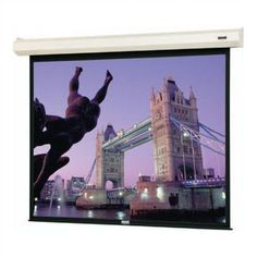 "Da-Lite Cosmopolitan Electrol Matte White 200"" Diagonal Electric Projection Screen"