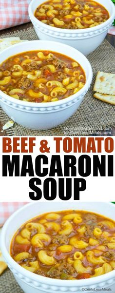 Tomato Macaroni Soup Recipe, Beef Macaroni, Macaroni Salad, Macaroni And Tomatoes, Pasta Soup, Macaroni Recipes, Beef Pasta, Pasta Recipes, Pasta Salad