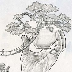 Image result for bonsai tree drawing