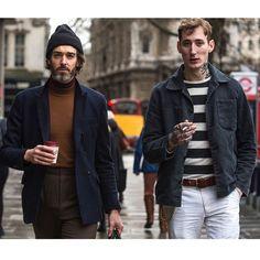 "Robert Spangle on Instagram: ""London, cigarettes & coffee #mensstyle #mensstreetstyle #mensfashion #streetstyle #richardbiedul #peterdoyle #style #fashion #london #gentleman #beard"""