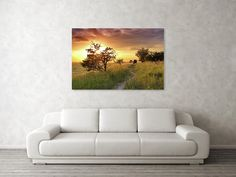 """Sunset on the meadow Art Print by Ren Kuljovska. Our art prints are produced on acid-free papers using archival inks to guarantee that they last a lifetime without fading or loss of color. All art prints include a 1"""" white border around the image to allow for future framing and matting, if desired.  #wallart #artdeco #homedeco #homedecor #artprint #artprints #wallartideas #meadow #print #giftidea #giftideas #canvasprint #sunset #goldenhour #onthemeadow Thing 1, Nature Artists, Nature Artwork, Decor Ideas, Gift Ideas, Pin Pin, Canvas Prints, Art Prints, Wall Decor"""