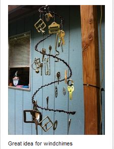 Great idea for windchimes (AND repurposing items)