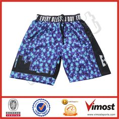 custom reversible full sublimation basketball short
