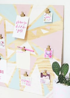 DIY Geometric Organization Inspiration Board