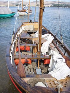 Russian wooden boats.