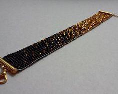 Bead Loom Bracelet Loom Bracelet Patterns, Seed Bead Patterns, Bead Loom Bracelets, Beaded Hat Bands, Bead Loom Designs, Bijoux Diy, Bead Crochet, Loom Beading, Bead Weaving