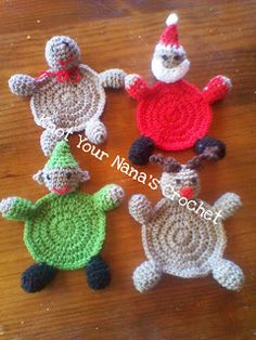 Christmas Coasters ~ Knot Your Nana's Crochet