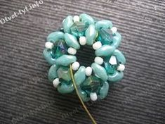 Beaded bead free tutorial. Russian.
