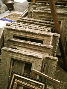 Love old ornate picture frames. Great patina.