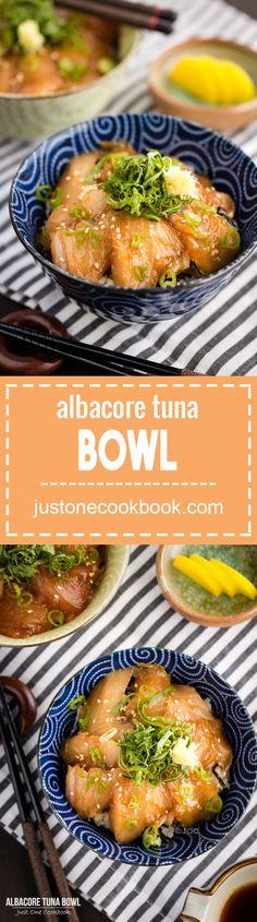Albacore Tuna Bowl (びんちょう鮪の漬け丼) | Easy Japanese Recipes at JustOneCookbook.com