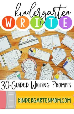 These 30 guided writing prompts are an effective way for children to explore beginning language concepts by putting their thoughts, ideas and feelings onto paper.