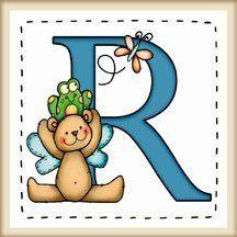"""calamita quadrata in legno di frassino """"L'alfabeto degli orsetti lettera R"""" bordo in legno naturale, idea regalo, artigianato italiano, made in Italy, con frase scritta, spiritosa, fuori stanza, appendi porta, fuori porta, tavola country, 5,5 cm x 5,5 cm"""