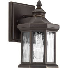 """Progress Lighting P6070 Edition 9"""" Tall Single Light Outdoor Wall Sconce with Wa Antique Bronze Outdoor Lighting Wall Sconces Outdoor Wall Sconces"""