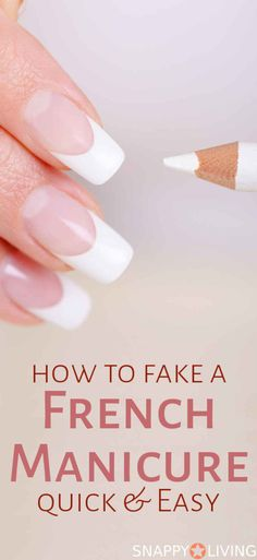 How to Fake a French Manicure (quick and easy) | beauty tips | quick manicure | #beauty #nails