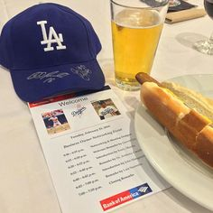 THINK BLUE: Great business mixer hosted by the @dodgers @bankofamerica! Free Dodger dogs & beer got to meet former Dodgers Eric Karros & Bill Russell & mingled with several business owners. by instaronfong